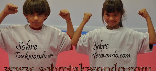 Strong Taekwondo students