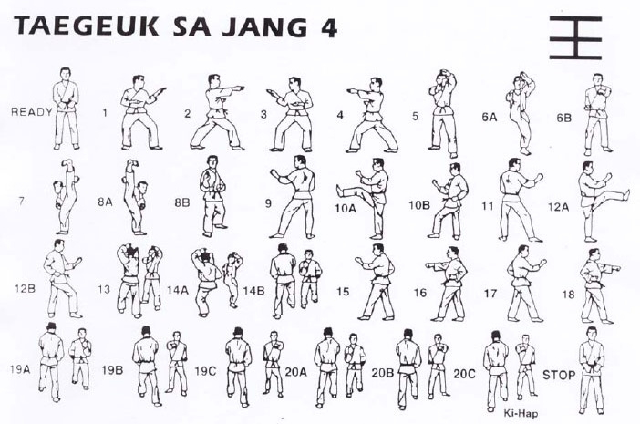 taekwondo form 4 taegeuk sa jang